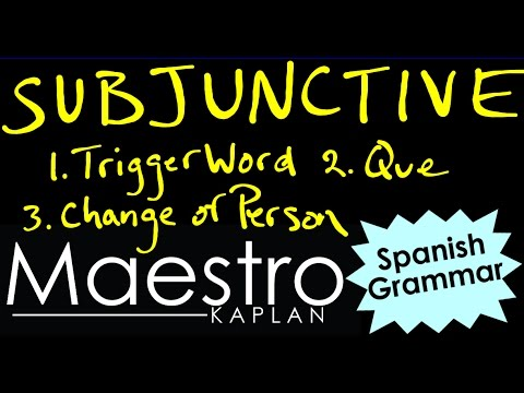 Using the PRESENT SUBJUNCTIVE in Spanish (trigger word, que, change of person)