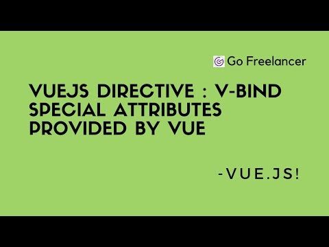 VueJs directive | v bind special attributes provided by Vue