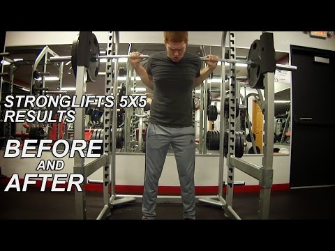 StrongLifts 5x5 Results - 8 Months Before and After