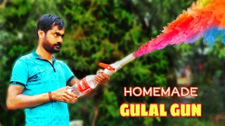 Homemade Powerful Holi Gulal Gun || How To Make Holi Pichkari At Home