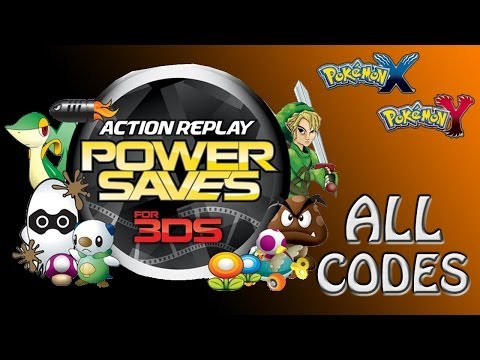 Datel Powersaves 3DS: All Codes for Pokémon X and Y as of 5/20/14