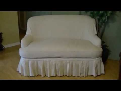 DIY Sofa Slip Cover Easy Tutorial Pt 2 Final
