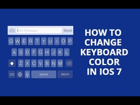 Change Keyboard Colors In iOS 7 (Jailbreak Tweak)