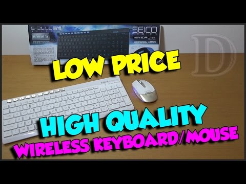 E-BLUE K825 WIRELESS KEYBOARD AND MOUSE REVIEW!