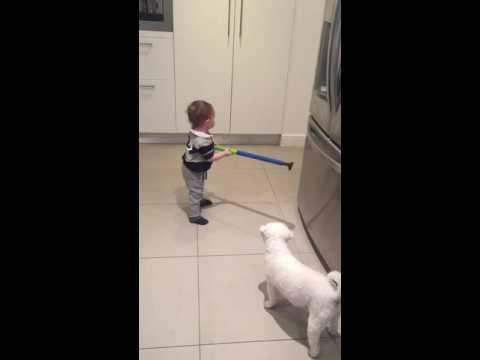 Baby golfing prodigy, Sam Blewett. Sheer genius. Greg Blewett's son (former Aussie Test Cricketer)