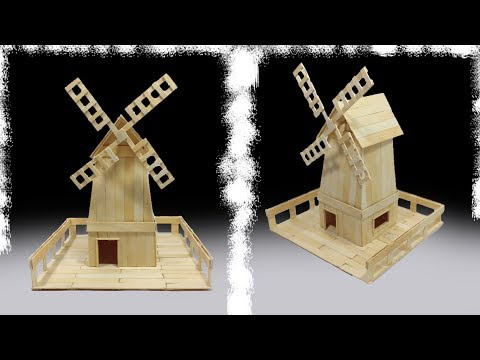 How to make a Windmill House from popsicle sticks