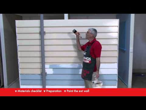 How To Paint An Exterior Wall - DIY At Bunnings