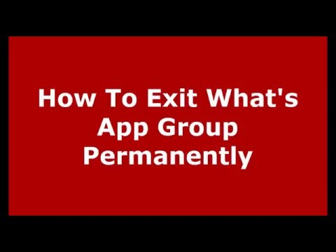 how to exit whatsapp group without notification