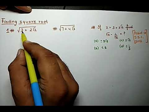 TRICK 2: Finding square root of a number containing surd.
