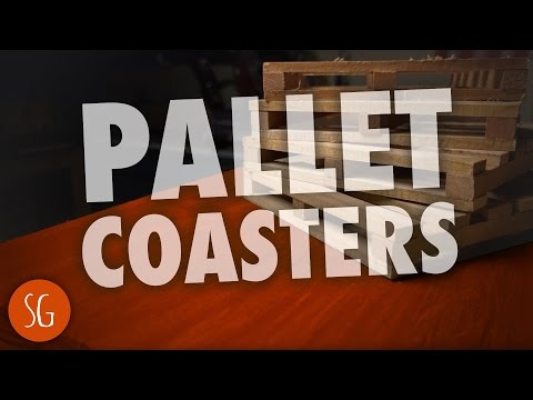 Easy to make DIY pallet wood coasters | How-to
