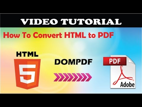 How to Convert HTML to PDF with DOMPDF