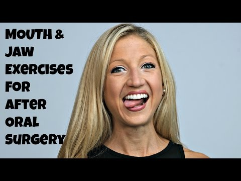 Mouth And Jaw Exercises for AFTER oral Surgery. Quick Healing Oral Exercise Routine.