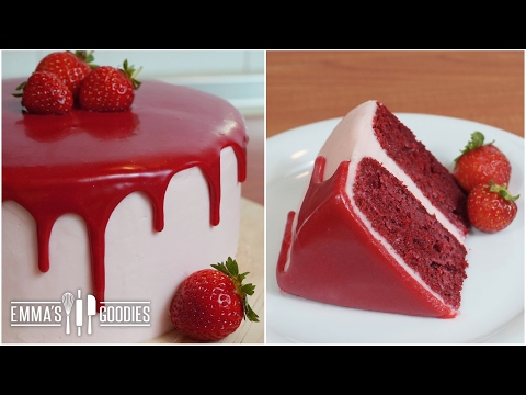 Red Velvet Cake Recipe with Cream Cheese Frosting ( Drip Cake )