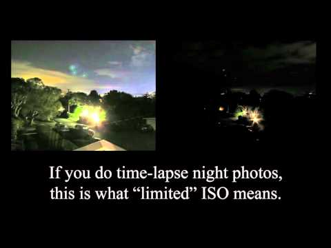 Canon PowerShot SX40 ISO limits time-exposure night shots.