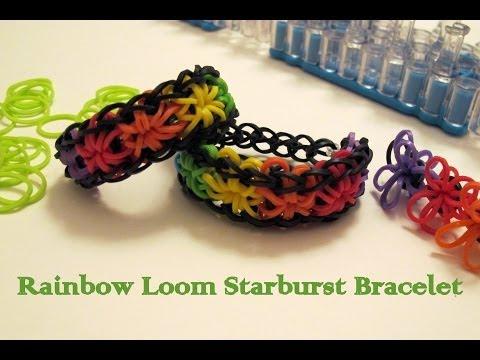 How to make rainbow loom Starburst bracelet