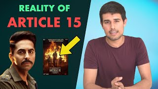 Article 15 - Reality of Casteism   Analysis by Dhruv Rathee