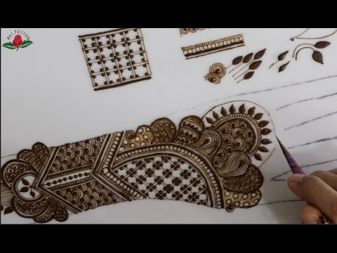 tutorial 30 : how to draw intricate mehendi step by step for beginner