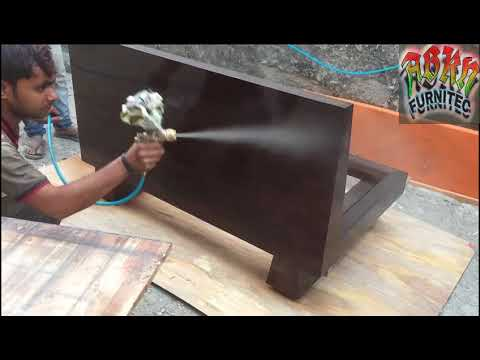 How to make Melamine matte & glossy polish in dining chair & table