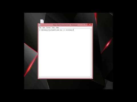 Create a Desktop Shortcut of Command Prompt Commands