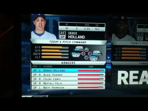 MLB 12 The Show Rangers Roster and Lineups
