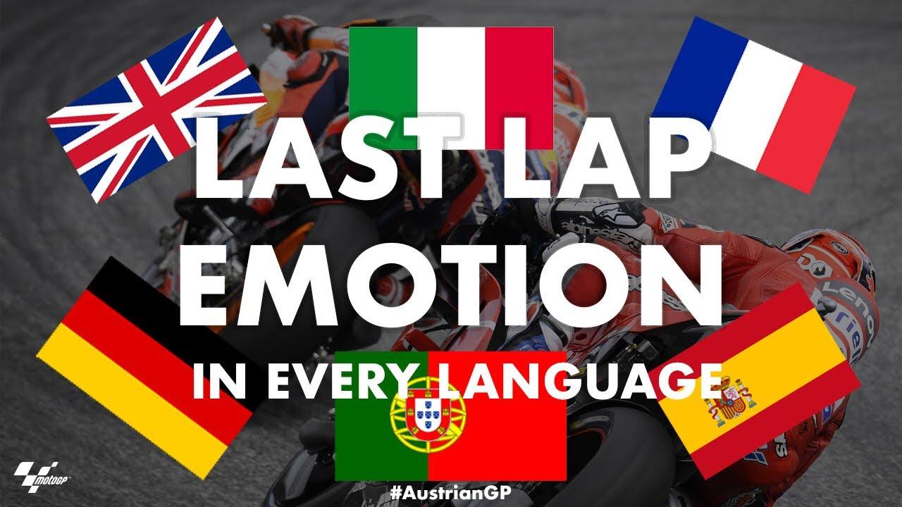 Dovizioso + Marquez last lap battle in EVERY language! | 2019 #AustrianGP
