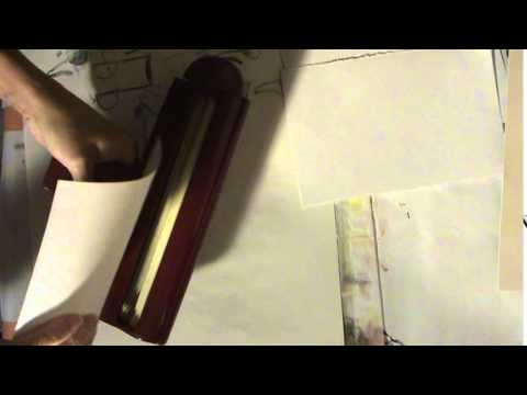Making Paper like Panara sandwich wrap paper