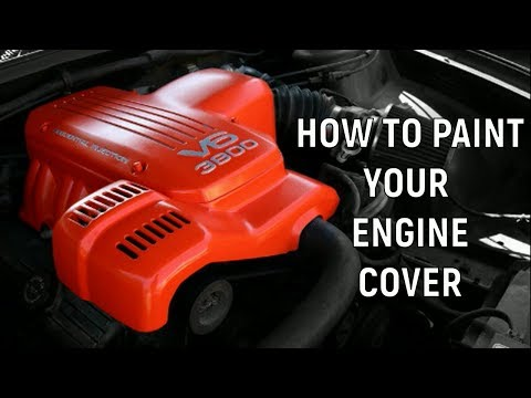 How To Paint Your Engine Cover | VT Holden Commodore