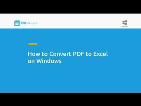 How to Convert PDF to Excel on Windows