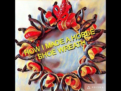 ✔️HOW I MADE A HORSE SHOE WREATH