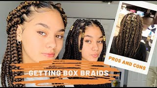 First Time Getting Box Braids | Montes Twins | Beauty
