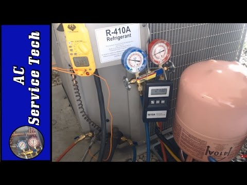 R-410A Charging! Weighing in Refrigerant Charge through the High Side Red Gauge and Why!