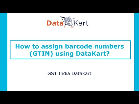 How to assign barcode numbers (GTINs) using DataKart