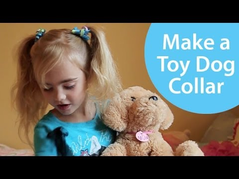 How to Make a Toy Pet Collar - Craft Show for Kids