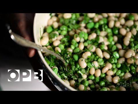 English Pea And White Bean Salad