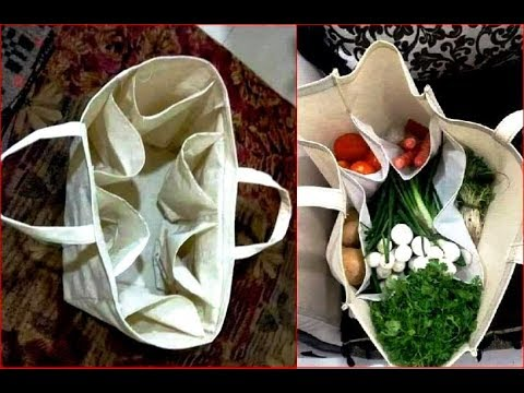Say no to plastic bag, make cloth bag vegetable organiser bag