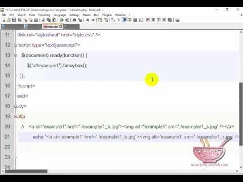 การสร้าง popup window เพื่อแก้ไขข้อมูลด้วย PHP (Fancy Box) Part-2