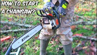 How to Start a Chainsaw?