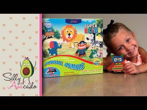 Perler Bead Alternative 💜 No hot iron! 💜 Super Beads 3D Jungle Animal Kids Crafting Set Review
