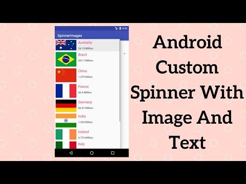 Android Custom Spinner With Image And Text (Demo)
