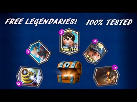 Clash Royale - How to get LEGENDARIES for free! 100% works, No hacks