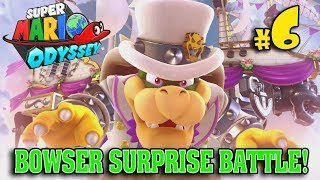 BOWSER SURPRISE BATTLE in the STEEL CAGE!!! Super Mario Odyssey LOST KINGDOM #6