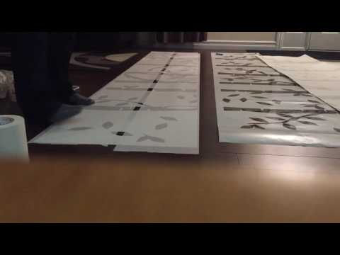 How to apply mask / masking tape to vinyl decal