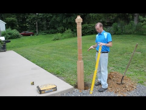 How to Install Lamp Post from S&L Spindles