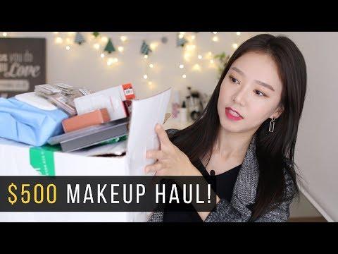 $500 KOREAN MAKEUP HAUL + $500 GIVEAWAY! $500 메이크업 하울 + $500 기브어웨이!!! [한글자막]