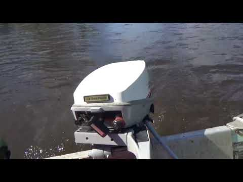15 HP Boat Motor. First run up the river.