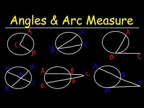 Circles, Angle Measures, Arcs, Central & Inscribed Angles, Tangents, Secants & Chords - Geometry