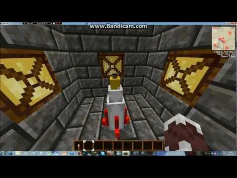 MineCraft | X39's Uranium Mod (TecMod) - How to use the rocket + Secret skin!