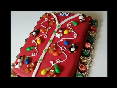 Ugly Christmas Sweater Cake - How to Make
