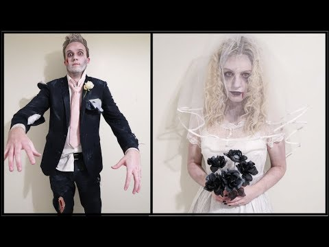ZOMBIE BRIDE AND GROOM COSTUMES
