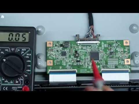 LCD TV Repair, Odd Colors, Fuzzy Image